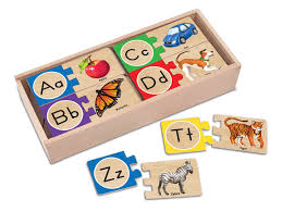 qty 1 melissa doug self correcting letter puzzles toys games