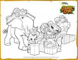 Animal Jam Jamaalidays Scene Coloring Page
