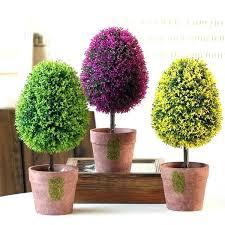 Michaels Fake Trees Small Plants Shop Oval Shape Tree Artificial Bonsai Pot Planter