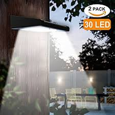 2 pack 30 led solar lights outdoor avaspot upgraded