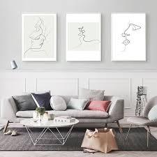 kunstplakate nordic abstract minimalist canvas
