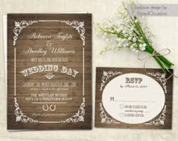 Western Wedding Invitation Sets Country Rustic Barn Wood Flourishes Horseshoe DIY Custom Digital Printable