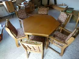 esszimmer tisch mit 6 stühlen eiche rustikal