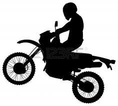 Dirt Bike Clipart Black And White Panda Free