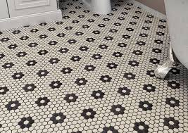 a familiar black and white pattern floor