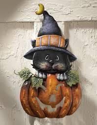 Fiber Optic Halloween Decorations by Pumpkin U0026 Kitty Metal Halloween Door Decoration From Collections Etc