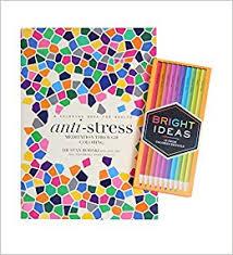 Anti Stress Coloring Book With Bright Ideas Neon Pencils Amazon Books