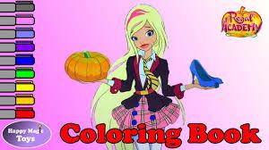 Regal Academy Coloring Book Rose Cinderella Happy Magic Toys