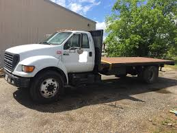 USED 2001 FORD F650 FLATBED TRUCK FOR SALE IN AL #3121