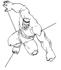 Red Hulk Printable Coloring Pages Free Hogan The Strong Man