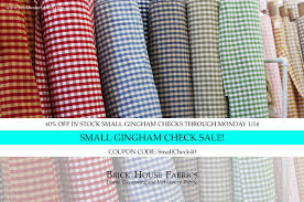 SALE! 40% Off In Stock Small Gingham Checks! Must Use Coupon ... Fabric Sale Fabricland Coupon Canada Barilla Pasta Printable Coupons Joann Fabric Code 50 Off Zulily July 2018 10 Best Joann Coupons Promo Codes 20 Off Sep 2019 Honey Ads And Indie Fabric Shop Roundup Coupon Chalk Notch Find Great Deals On Designer To Use Code The Big List Of Cadian Online Shops Finished Fabriccom How Order Free Swatches At Barnetthedercom