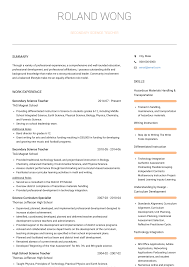 Science Teacher - Resume Samples & Templates | VisualCV Teacher Resume Samples And Writing Guide 10 Examples Resumeyard Resume For Teachers With No Experience Examples Tacusotechco Art Beautiful Template For Teaching Free Objective Duynvadernl Science Velvet Jobs Uptodate Tips Sample To Inspire Help How Proofread A Paper Best Of Objectives Atclgrain Format Example School My Guitar Lovely Music Example