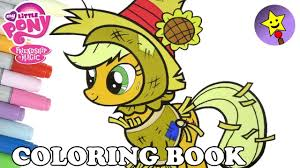 Applejack Halloween Coloring Book MLP My Little Pony Page