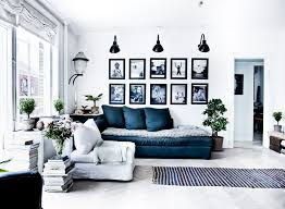 Navy Blue And White Living Room Curtains
