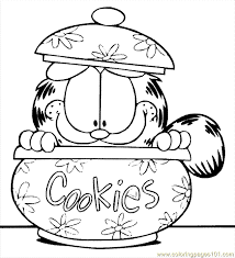 Garfield Printable Funny And Odie Coloring Pages