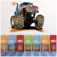 100 Monster Truck Wall Decals Amazoncom Azutura Red Blue Sticker Transport