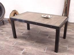 table industrielle en bois et métal sur mesure micheli design