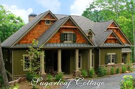 Rustic Mountain Style Cottage House Plan