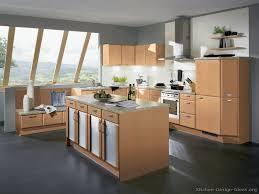 grey flooring kitchen wood cabinets http www kitchen