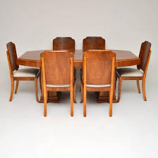 1920's Original Art Deco Walnut Dining Table & Chairs Simmons Upholstery 500959 Heirloom Fniture Black Walnut Ding Table Bentley Designs Lyon Extending Table 6 Oiive Grey Leather Chairs Costco Uk Royce Set B 14 Camel Group Nostalgia Round Extension Starburst Dark Tables Custmadecom And Chairs Chair By Svegards Of America Argos Ava With 4 In Bucksburn Aberdeen Gumtree To Solid Jupe Hidden Leaves
