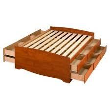 queen platform beds target