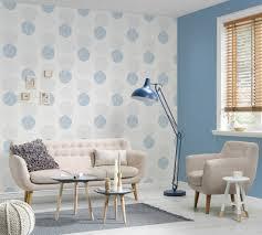 vliestapete kreise floral weiß blau glitzer 37264 2
