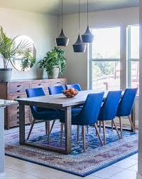 Blue Dining Room Chairs The Application Of Home