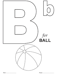 Printables Alphabet B Coloring Sheets