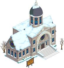 Silo Christmas Tree Farm Temple by Temple Beth Springfield The Simpsons Tapped Out Wiki Fandom