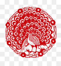 Papercutting Chinese Paper Cutting Peafowl Pattern