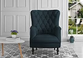 Plush Classic Tufted Linen Fabric Armchair
