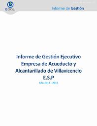 Informe de gesti³n eaav vigencia 2012 2015 by Empresa de Acueducto