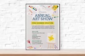DIY Printable School Art Show Flyer Template Word Templates Event Festival Arts And Crafts From TheFlyerPress