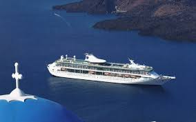 Cruise Ship Sinking Santorini by Louis Cruises Travelswithanthony