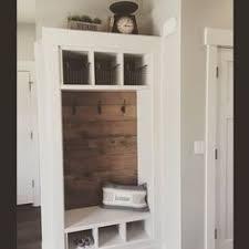 Barn wood back mud room lockers IKEA Pinterest