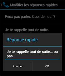 comment repondre au telephone au bureau android refuser un appel avec réponse sms automatique