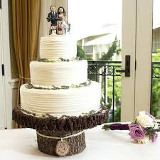 Rustic Cake Stands Simple Wood Stand Wedding Ideas