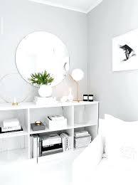 light grey wall white bedroom lots of light light grey wallpaper