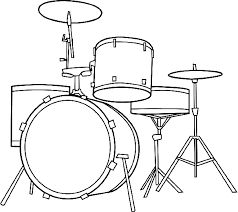 Coloring Picture Of Drum Kit