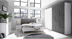 liegness lyvio schlafzimmer set weiß und grau modern mit