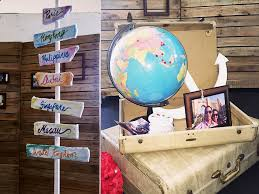 Rustic Travel Theme For Their Wedding And We Are Glad To Provide What Style They Wanted The Accents Decors Suitcase With A Globe