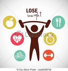 Lose weight design Lose weight design vector illustration