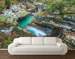 Wall Mural Decals Nature by Mountain Forest Wall Decal Mountain Range Wall Mural Nature