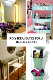 Vanity Table Ikea Hack by 9 Awesome Diy Ikea Hacks For Your Beauty Nook Shelterness