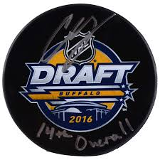 Autographed Boston Bruins Charlie McAvoy Fanatics Authentic 2016 NHL Draft  Logo Puck With
