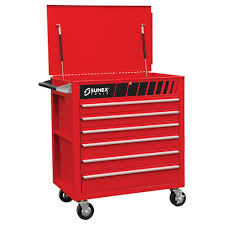 100 Service Truck Tool Drawers Sunex 38 In Premium Full 6Drawer Utility Cart In Red8057