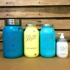 Mason Jar Kitchen Decor Canister Set Rustic Turquoise Jars A Red