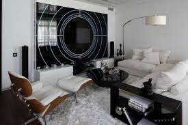 Black And White Decorations Inspire White And Black Living Room