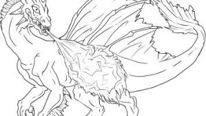 Lightning Dragon Coloring Pages Printable