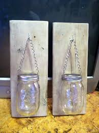 How To Make A Mason Jar And Pallet Wood Candle Holder Home Decor